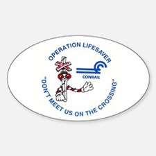 Conrail Safety Oval Decal