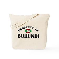 Property Of Burundi Tote Bag