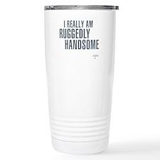 Ruggedly Handsome Stainless Steel Travel Mug