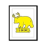 Beer Framed Panel Print