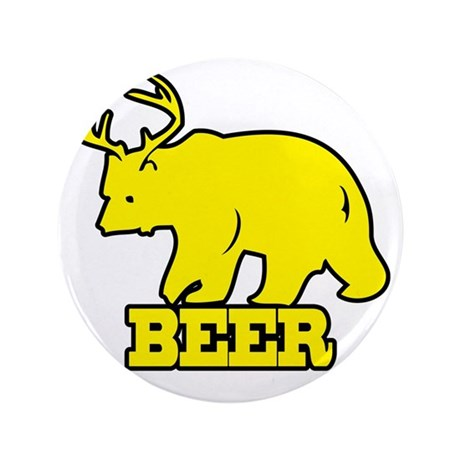 """Beer 3.5"""" Button"""
