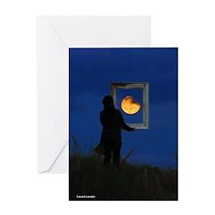 Moon Games Greeting Card