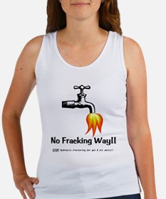 No Fracking Way Women's Tank Top