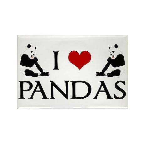 I Heart Pandas Rectangle Magnet