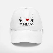 I Heart Pandas Baseball Baseball Cap