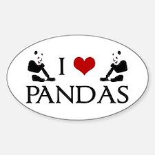 I Heart Pandas Decal