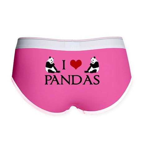 I Heart Pandas Women's Boy Brief