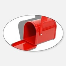 Mailbox Open Sticker (Oval)