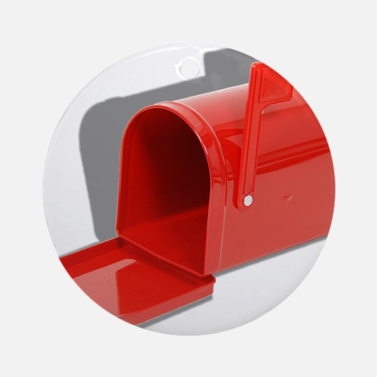 Mailbox Open Ornament (Round)