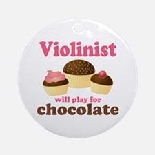 Chocolate Violin Ornament (Round)