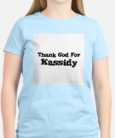 Thank God For Kassidy Women's Pink T-Shirt