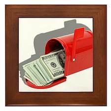 Money In Mail Framed Tile