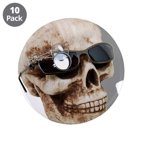 "Optical Skull 3.5"" Button (10 pack)"