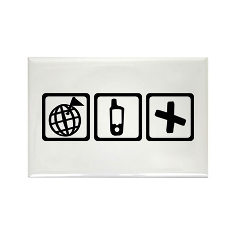 Geocaching Rectangle Magnet (10 pack)