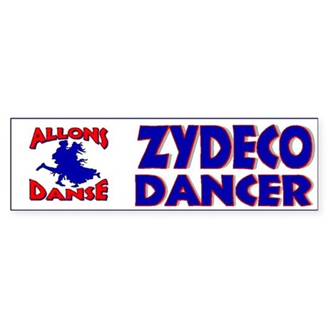 Zydeco Dancer Bumper Sticker