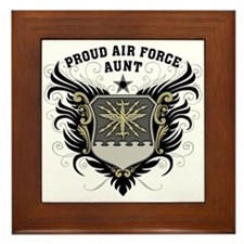 Proud Air Force Aunt Framed Tile