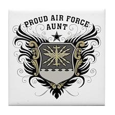 Proud Air Force Aunt Tile Coaster