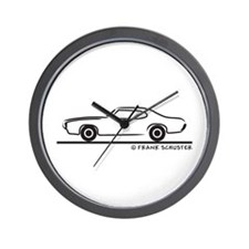 1969 Pontiac GTO Coupe Wall Clock