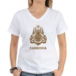 Vintage Cambodia Women's V-Neck T-Shirt