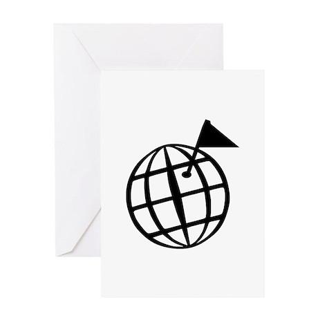 Globe Greeting Card