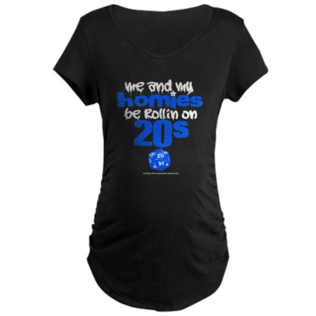 Me & My Hommies Maternity Dark T-Shirt
