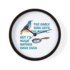 Early Bird Retirement Wall Clock