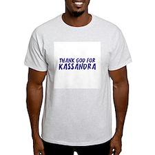 Thank God For Kassandra Ash Grey T-Shirt