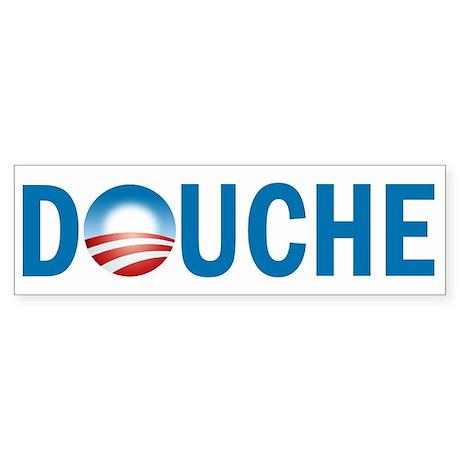 Obama - Douche Sticker (Bumper)
