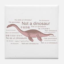 Plesiosaur (not a dinosaur) Tile Coaster