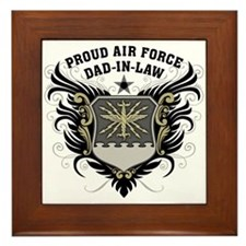 Proud Air Force Dad-in-law Framed Tile