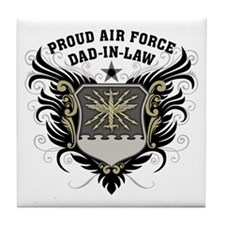 Proud Air Force Dad-in-law Tile Coaster