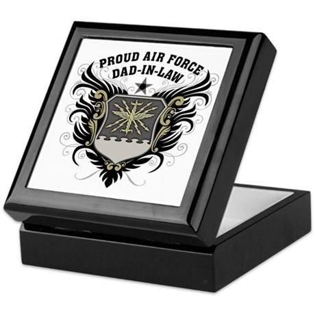 Proud Air Force Dad-in-law Keepsake Box