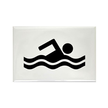 Swimming Rectangle Magnet (10 pack)
