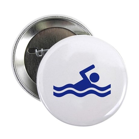 """Swimming 2.25"""" Button (100 pack)"""