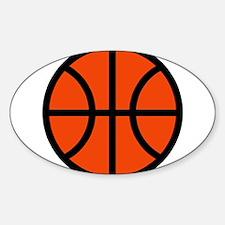 BASKETBALL *70* Sticker (Oval)
