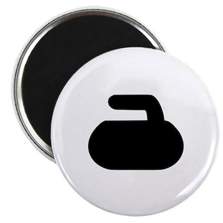 """Curling 2.25"""" Magnet (100 pack)"""