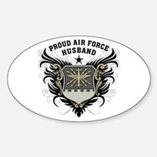 Proud Air Force Husband Sticker (Oval)
