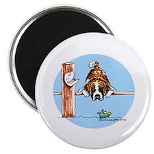 Saint Bernard Fish Magnet