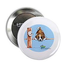 """Saint Bernard Fish 2.25"""" Button"""