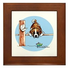 Saint Bernard Fish Framed Tile