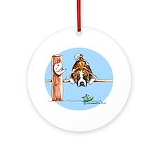 Saint Bernard Fish Ornament (Round)