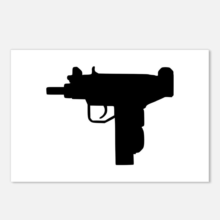 Uzi - Weapon Postcards (Package of 8)