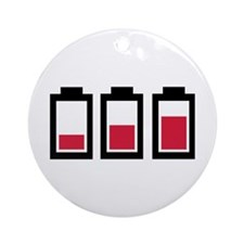 Battery - Power Ornament (Round)