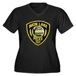 Avon Lake Police Women's Plus Size V-Neck Dark T-S