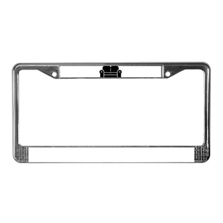 Couch License Plate Frame