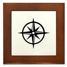Compass Framed Tile