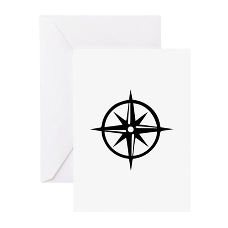 Compass Greeting Cards (Pk of 10)