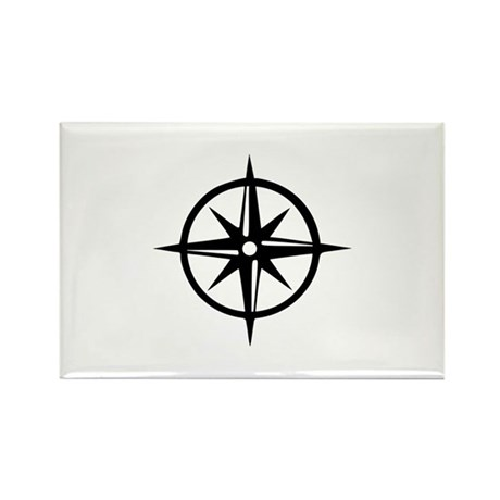 Compass Rectangle Magnet