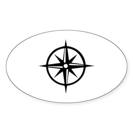 Compass Sticker (Oval)