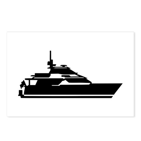 Boat - yacht Postcards (Package of 8)